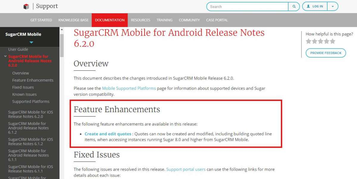 sugarcrm mobile